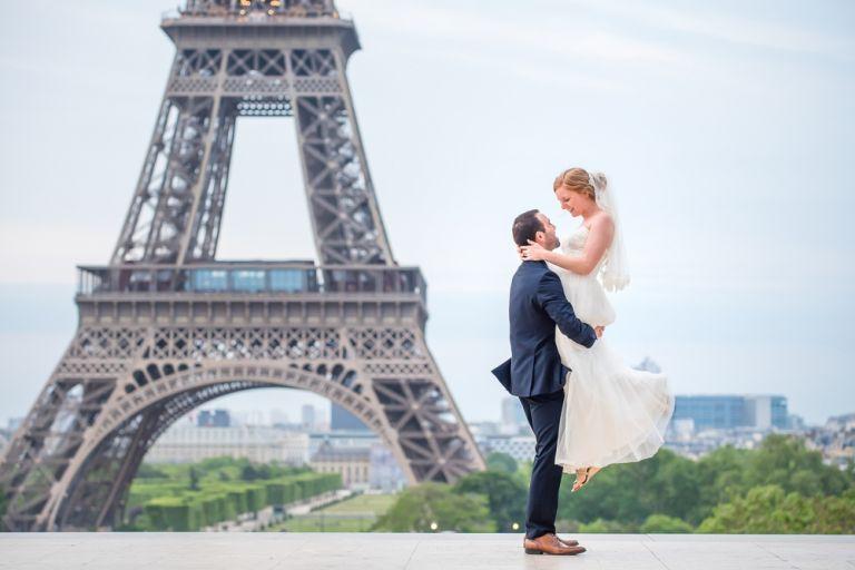 Elopement Hochzeit Eiffel Turm