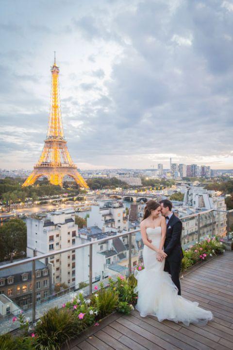 Hochzeit in Paris eiffel turm