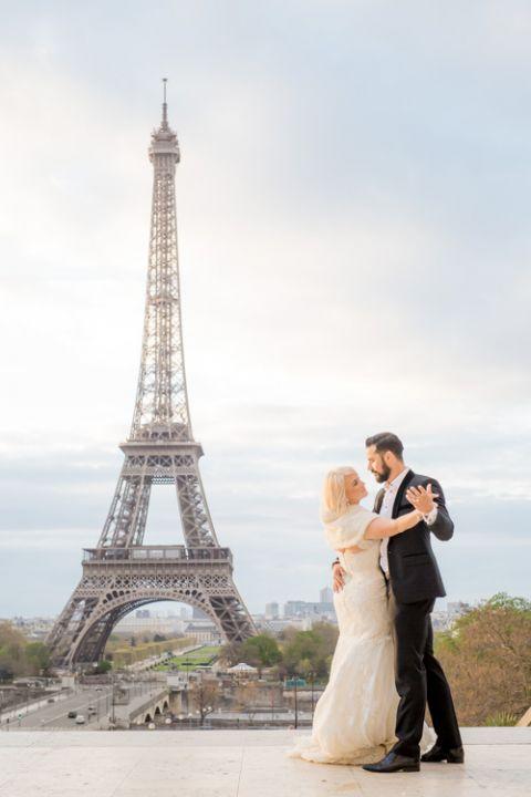 Hochzeit Eiffel Turm tanz